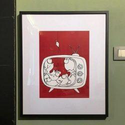 fish on tv andrea sangalli art gallery